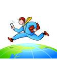 World-wide businessman vector image vector image