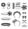 Hair Accessory Monochrome vector image