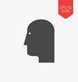 Head icon Flat design gray color symbol Modern UI vector image