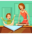 Family Cooking vector image