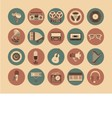 Icons musical instruments vector image