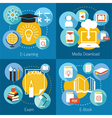 School Online E-Learning E-Book Exam Concept vector image