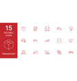 15 transport icons vector image vector image
