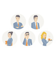 a portrait of a business team of young bu vector image vector image