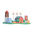 agricultural background farm rural buildings vector image vector image