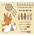 arrows indian elements aztec borders