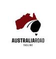 australian road logo vector image