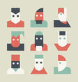 Avatars for social network vector image