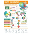 Back to School infographic banner background vector image vector image