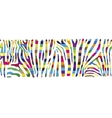 Background with colorful Zebra skin vector image vector image
