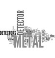 before you buy a metal detector text word cloud vector image vector image