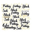 Black Friday Lettering Design vector image vector image