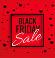black friday sale banner poster with red vector image vector image