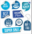 blue sale stickers collection vector image vector image