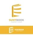 book logo concept vector image vector image