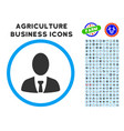 boss rounded icon with set vector image vector image