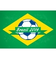 Brazilian football background vector image