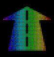 bright dot future road icon vector image vector image
