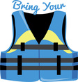 Bring Your Vest vector image