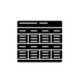 business model black icon sign on isolated vector image vector image