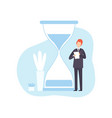 businessman with hourglass male office worker vector image vector image
