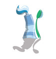 cartoon tube toothpaste vector image