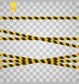 caution lines isolated realistic warning tapes vector image