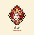 chinese peking opera retro symbol vector image vector image