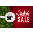christmas holiday sale 90 percent off vector image vector image