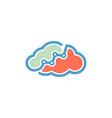 cloud statistics logo vector image