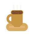 coffee mug isolated cup of hot drink vector image