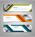 collection banners with abstract colored stripes vector image vector image