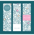 colorful bubbles vertical banners set pattern vector image vector image