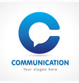 communication logo vector image