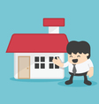 Concept business offering home loans vector image vector image