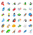 creativity icons set isometric style vector image vector image