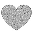 decorative love heart with ornament of circles vector image vector image