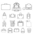 design suitcase and baggage sign vector image