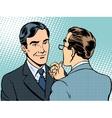 Dialogue conversation businessmen vector image vector image