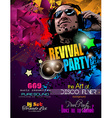 Disco Night Club Flyer layout with Disck Jockey vector image vector image