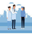 doctor and people vector image
