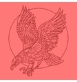 Eagle bird coloring book for adults vector image vector image