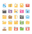 files and folders flat icons vector image