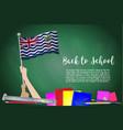 flag of british indian ocean territory on black vector image