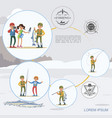 flat colorful fishing hobconcept vector image vector image