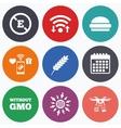 Food additive icon Hamburger fast food sign vector image vector image
