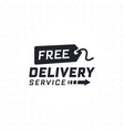 free delivery service in black color vector image vector image
