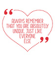 Funny love quote Always remember that you are vector image vector image