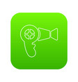 hair dryer icon green vector image