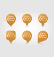 honeycomb bee pin map icon